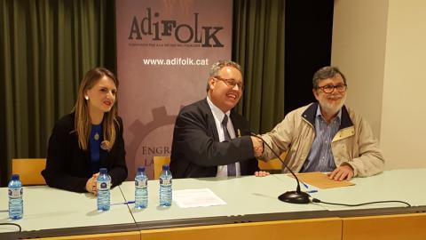 Acord Adifolk i l'Agrupament d'Esbarts Dansaires